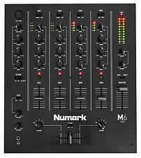 Numark M6 USB 4-Channel Pro DJ Mixer w/ USB Interface M6USB, Black