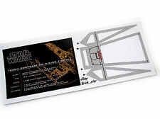CUSTOM PLAQUE & COCKPIT STICKERS for LEGO 7191 X-wing fighter ,Displays, Etc