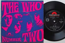 THE WHO Number Two RARE Original 45 AUSTRALIA EP 1967 Near Mint VINYL UK Psych