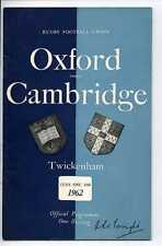 (Gs905-100) Oxford vs Cambridge, Rugby Union Programme, Twickenham 1962 EX