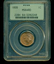 1899 Indian Head Cent Pcgs Ms64Rd -Pcgs Old Green Holder