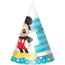 Disney Mickey Mouse 1st Birthday Cone Hats (8ct) Party  Favors Supplies