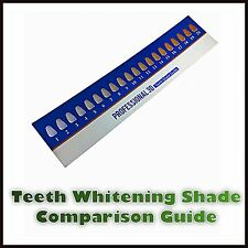 TEETH WHITENING SHADE GUIDE COMPARISON SAMPLE COLOUR CHART DENTAL LAB BLEACHING