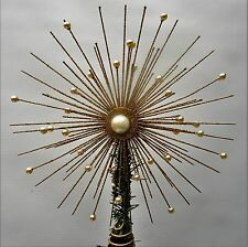 Gisela Graham Gold  Wire &  Beads Christmas Star Tree Topper