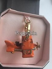 BRAND NEW JUICY COUTURE ORANGE SCOTTIE AIRPLANE BRACELET CHARM IN TAGGED BOX