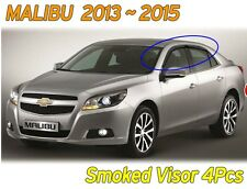 Smoked Window Visor Sun Rain Vent Door Guard K122 For CHEVROLET 2013-2015 Malibu