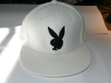 Playboy TM bunny White and black fitted hat size Small Authentic NEW with Tag