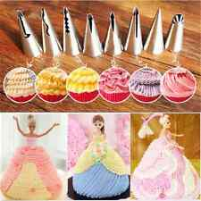 7PC DIY Stainless Steel Flower Icing Piping Nozzles Tips Pastry Cake Baking Tool