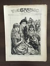 """""""THE GRAPHIC"""" (A Beautifully Illustrated British Weekly Newspaper)-Mar. 30, 1889"""