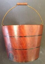 Treenware BERRY PAIL miniature WOOD BUCKET old PEASEWARE / LEHNWARE great PATINA