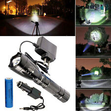 4000LM CREE XM-L T6 LED Rechargeable Flashlight Torch Lamp W + Battery &Charger