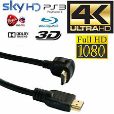 6m HDMI Right Angled Gold Plated Cable Ethernet Lead HDTV PS3/4 SKY 3D 4K