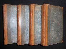 The Life of Samuel Johnson, 1799, James Boswell - Full 4 Volume Set, Bindings