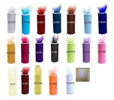 "10 GLITTER Tulle 6"" x 10 yd ( 6""x 30 ft ) Roll spool gift bow wedding tutu"