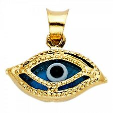 14K Yellow Gold Evil Eye Pendant GJPT1717