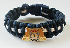 ROYAL NAVY DIVER PARACORD WRISTBAND WITH BADGES