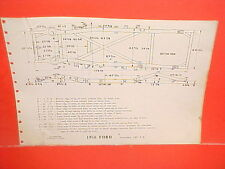 1956 FORD FAIRLANE VICTORIA SKYLINER SUNLINER CONVERTIBLE FRAME DIMENSION CHART