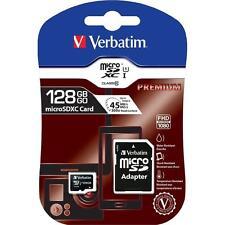 Verbatim microSDXC UHS-I Premium Speicherkarte 128GB Class10 mit Adapter