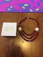 Kirks Folly Red Seaview Moon Necklace