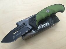 """MTech USMC 8"""" Black Half Serrated Blade Spring Assisted Folding Pocket Knife"""