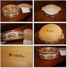 Longaberger Divide It Up Spice Market Basket Set Cutting Board Lid Protector