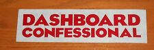 Dashboard Confessional Bumper Sticker 2-Sided Original Promo 7x2