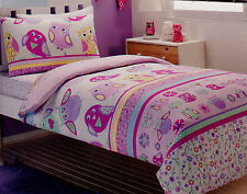 Cute Owl Single/Twin Size  Quilt Cover Set New