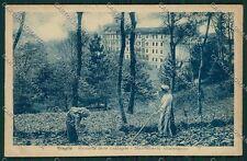 Biella Graglia Raccolta Castagne PIEGHE cartolina QQ6388