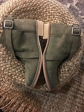 New Free People Las Palmas Boots in Green/ Light Olive size 39 Anthropologie