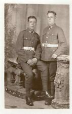 Inter War Unknown Regiment Fusiliers Soldiers 1925 From the 2 Bills RP Postcard