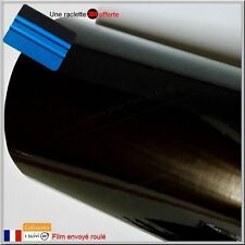 film vinyle noir brillant thermoformable sticker adhésif covering 152cm x 30cm