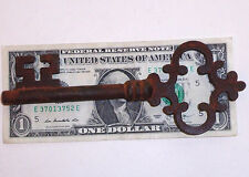 ANTIQUE VINTAGE 1800'S STYLE VICTORIAN CAST IRON LARGE SKELETON KEY REPRODUCTION