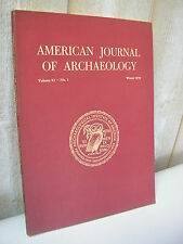 AMERICAN JOURNAL of ARCHAEOLOGY 1978 N°1