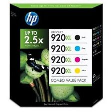 4 Original HP 920XL Ink Cartridges for OfficeJet 6000 6500A 7500A 7000