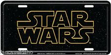 Star Wars Space Script Embossed Metal Car License Plate Auto Tag - FREE Ship!