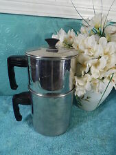 Retro Percolator Stainless Steel Coffee Pot Metal Steamer Teapot Bakelite