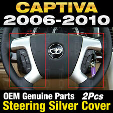 OEM Parts Steering Wheel Point Cover Silver 2Pcs Set For Chevy 2006-2010 Captiva