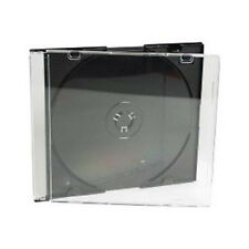 10 x Slimline Single CD DVD Jewel Cases Black tray 5.2mm