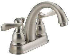 "NEW DELTA B2596LF-SS STAINLESS STEEL 4"" 2 HANDLE LAVATORY FAUCET 2294932"