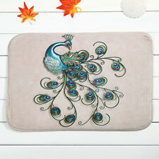 Home Decor Peacock Rug Carpet Bathroom Floor Mat Dining Room 40*60cm Ous