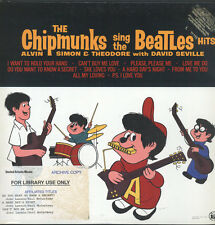 CHIPMUNKS: Sing The Beatles Hits LP (abridged re, promo stamp ofc, large librar