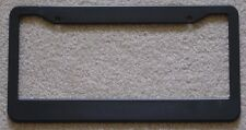 BLANK BLACK PLASTIC LICENSE PLATE FRAME TAG HOLDER SET OF 2 FREE SHIPPING!