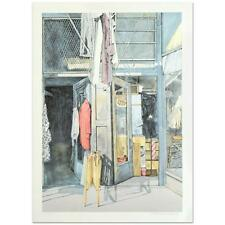 """William Nelson - """"Second-Hand Store"""" Limited Edition Lithograph, Signed"""