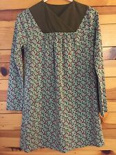 *TEA COLLECTION* Girls Green Dress with Floral Print EUC Worn Once! Size 12