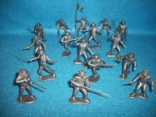 Marx reissue plastic set of 16 Alamo Mexican soldiers presidio type in silver