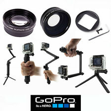 WIDE ANGLE LENS + TELEPHOTO ZOOM LENS + MULTI WAY BRACKET FOR GOPRO HERO4 SILVER