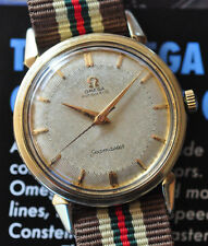 Vintage 1956 Omega Seamaster Watch Automatic Cal. 471 Hobnail Dial Runs Great