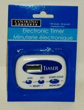 Cooking Concepts Electronic Kitchen Timer Simple To Use Clip Mounting BLUE NIP