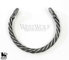 Twisted Silver Celtic Gallia Bracelet/Torc/Torque - Celt/Viking/Medieval/Jewelry