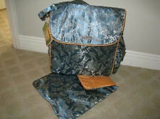 NEW Asian Boxy backpack diaper bag Kecci Frizzi Blue Silver Orange Convertible